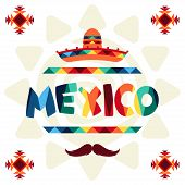 Ethnic mexican background design in native style.