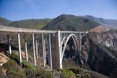 foto of bixby  - Bixby Creek Arch Bridge near Big Sur in California USA  - JPG