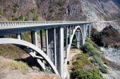 image of bixby  - Bixby Creek Arch Bridge near Big Sur in California USA  - JPG