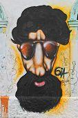 Afro man graffiti