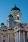 Beautiful Finnish Capital Helsinki Summer Skyline View With Saint Nicholas Cathedral