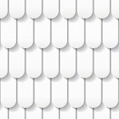 Seamless White Origami Pattern With Roof Tiles. Eps10