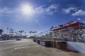 Long Beach, CA - Apr 11, 2014:  The Extreme Motorsports Honda car practices through the turns at the