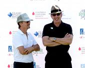LOS ANGELES - APR 14:  David Spade, Tim Allen at the Jack Wagner Anuual Golf Tournament benefitting LLS at Lakeside Golf Course on April 14, 2014 in Burbank, CA