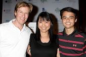 LOS ANGELES - APR 14:  Jack Wagner, Lori Loo, Quinten Lepak at the Jack Wagner Anuual Golf Tournament benefitting LLS at Lakeside Golf Course on April 14, 2014 in Burbank, CA