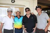 LOS ANGELES - APR 15:  David Spade, Kevin Farley, golfers at the NBC's