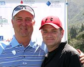 LOS ANGELES - APR 14:  Dennis Wagner, Tim Curren at the Jack Wagner Anuual Golf Tournament benefitting LLS at Lakeside Golf Course on April 14, 2014 in Burbank, CA