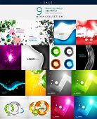 Mega collection of various shaped abstract backgrounds
