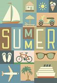 summer retro background