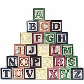 ABC Blocks A-Z Illustration