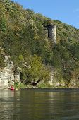 Kayak near Chimney rock