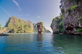 image of james bond island  - Island in Phuket Thailand  - JPG