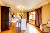 Elegant Dining Room With Antique Furniture