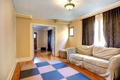 Furnished Room With Open French Door