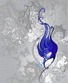 Strange Blue Flower