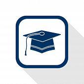 graduation flat icon