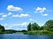 Background Of River And Sky
