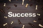 word success on wooden background