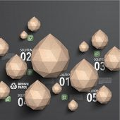 Vector Brown Paper Polygonal Graphics