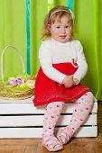 little girl in a beautiful dress