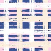 Plaid pattern with wide brushstrokes