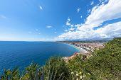 Fisheye View Of Coast In Nice, France