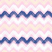 Hand painted chevron pattern