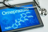 Tablet with the chemical formula of omeprazole