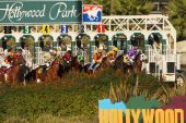 Hollywood Park Turf Race Gate Break