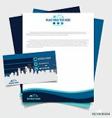Abstract creative business paper template and business card template, vector illustration.