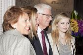 NEW YORK-APR 21, 2014: Representatives from Project Sunshine with Actress Abigail Breslin (r) pose f