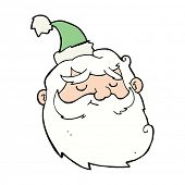 cartoon santa claus face