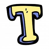 cartoon letter T