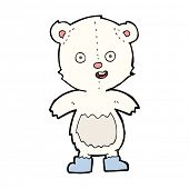 cartoon happy teddy bear in boots