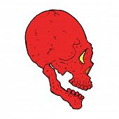 red skull illustration