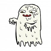 cartoon gross slime ghost