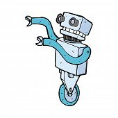 cartoon funny robot