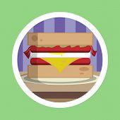 Delicious Sandwich Illustration