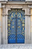 Lavishly embellished doors poster