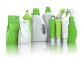 stock photo of detergent  - Cleaning supplies - JPG