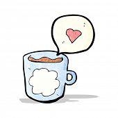 cartoon nice mug of coffee
