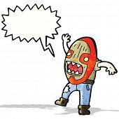 cartoon tribal shaman with big mask