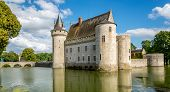 Chateau Of Sully Sur Loire With Bridge