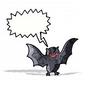 cartoon screeching bat