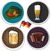 Labels With Oktoberfest Symbols