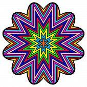 Colorful starlike ornament
