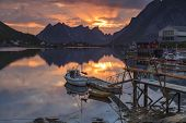 Reine, Picturesque Fishing Village On Lofoten, Norway