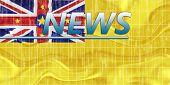 Flag Of Niue Wavy News