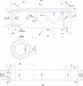 Engineering drawing of steel bush