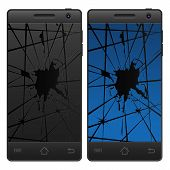 Cracked Mobile Phone